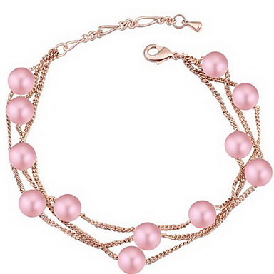 Damskie Bransoletki Strand Biżuteria Przyjaźń Modny Kryształ Stop Geometric Shape Biżuteria Impreza Urodziny