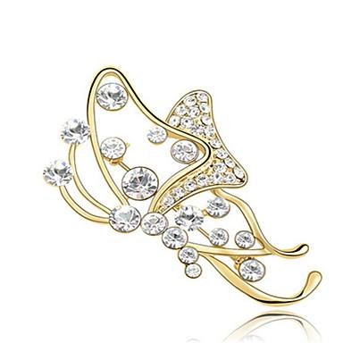 Kadın Broşlar Mücevher Kişiselleştirilmiş Eşsiz Tasarım Euramerican Sentetik Taşlar alaşım Diğerleri Mücevher Uyumluluk Parti Günlük