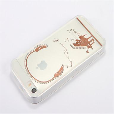 Na Stras Przezroczyste DIY Kılıf Etui na tył Kılıf Kreskówka Miękkie TPU na Apple iPhone SE/5s iPhone 5