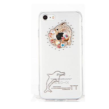 Varten Paljetti Tuella Läpinäkyvä DIY Etui Takakuori Etui 3D piirros Pehmeä TPU varten Apple iPhone 7