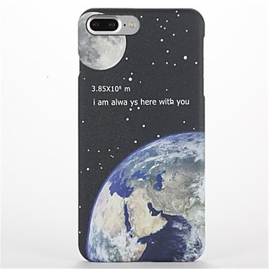 tok Για Apple iPhone 7 Plus iPhone 7 Παγωμένη Με σχέδια Πίσω Κάλυμμα Ουρανός Τοπίο Σκληρή PC για iPhone 7 Plus iPhone 7 iPhone 6s Plus