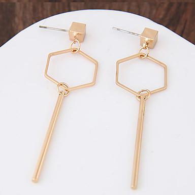 نساء أقراط قطرة هندسي موضة سبيكة Geometric Shape مجوهرات من أجل يوميا فضفاض