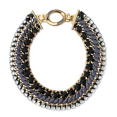 Damskie Oświadczenie Naszyjniki Kryształ Round Shape Okragły Biżuteria Na