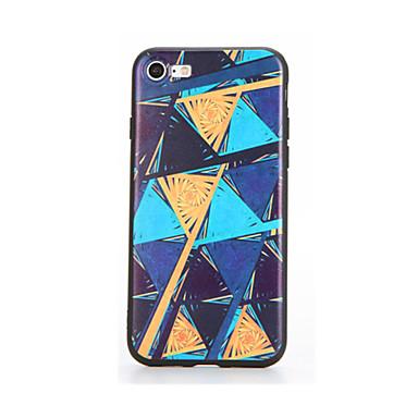 Pouzdro Uyumluluk Apple iPhone 7 Plus iPhone 7 Temalı Süslü Arka Kapak Geometrik Desenli Yumuşak TPU için iPhone 7 Plus iPhone 7 iPhone