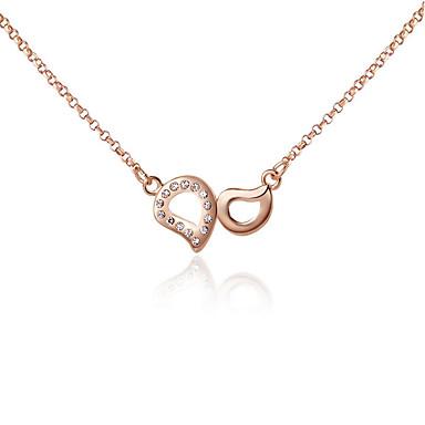 Kadın's Uçlu Kolyeler Kristal Moda Çok güzel Kişiselleştirilmiş Euramerican Altın Gümüş Mücevher Için Düğün Parti 1pc