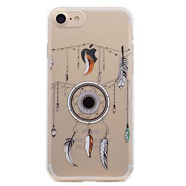 Pouzdro Uyumluluk Apple Şeffaf Temalı Arka Kılıf Düşkapanı Yumuşak TPU için iPhone 7 Plus iPhone 7 iPhone 6s Plus iPhone 6 Plus iPhone 6s
