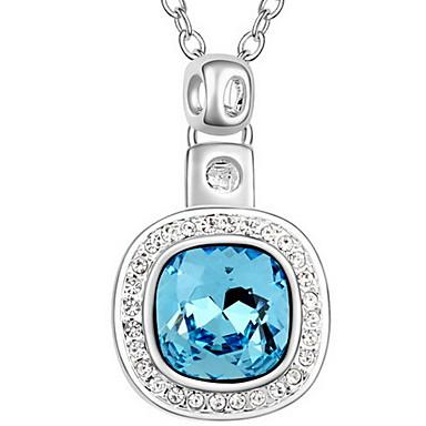 Damskie Naszyjniki z wisiorkami Kryształ Round Shape Podstawowy Biżuteria Na