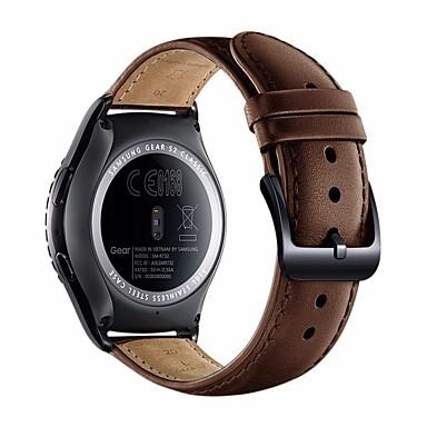 Watch Band için Gear S2 Classic Samsung Galaxy Deri Döngü Deri Bilek Askısı