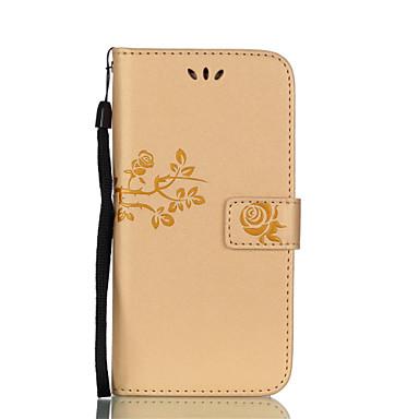 Kılıf Na Samsung Galaxy A5(2017) A3(2017) Etui na karty Portfel Z podpórką Flip Wzór Wytłaczany wzór Pełne etui Kwiaty Twarde Skóra PU na