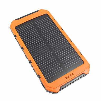 cheap Power Banks-10000 mAh For Power Bank External Battery 5 V For 3.1 A / # For Battery Charger Waterproof / Multi-Output / Solar Charge LED