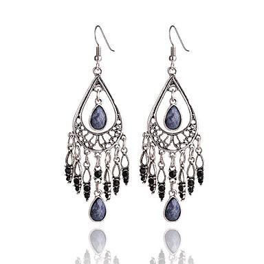 Damla Küpeler Mücevher Eşsiz Tasarım Bohemia Stili Reçine alaşım Damla Gri Yeşil Mavi Mücevher Için Parti Özel Anlar Günlük 1 çift
