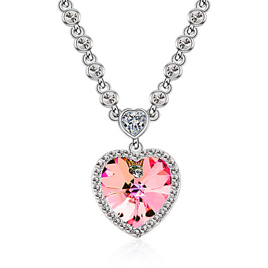 Women s Crystal Simulated Pendant Necklace - Ladies 00af86ad8839