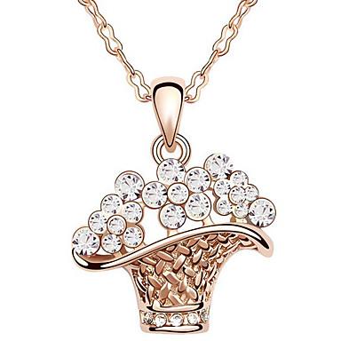 Kadın's Uçlu Kolyeler Kristal İfade Takıları Mücevher Uyumluluk Doğumgünü