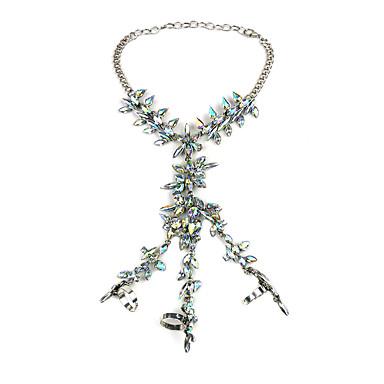 Kadın's Wrap Bilezikler Mücevher Bohemia Stili Moda Değerli Taş alaşım Altın Beyaz Gümüş Gökküşağı Mücevher Için Parti 1pc