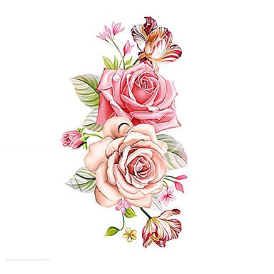 1 Temalı Çiçek Serisi Dövme Etiketleri