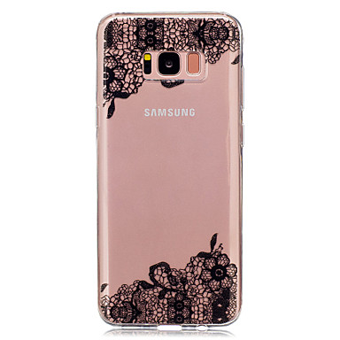 voordelige Galaxy S-serie hoesjes / covers-hoesje Voor Samsung Galaxy S8 Plus / S8 / S5 Mini Transparant / Patroon Achterkant Lace Printing Zacht TPU