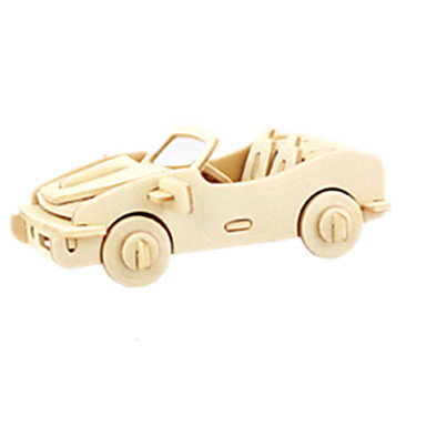 بانوراما الألغاز قطع تركيب3D اللبنات DIY اللعب سيارة خشب ألعاب البناء و التركيب