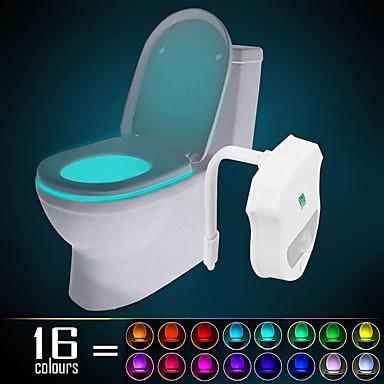 ywxlight® ip65 16 culori mișcare activată toaletă lumină noapte lumină ușoară curată