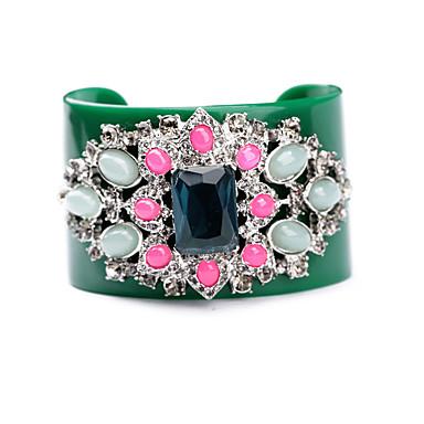 Kadın's Halhallar Mücevher Arkadaşlık Eski Tip alaşım Flower Shape Yeşil Mücevher Için Doğumgünü 1pc