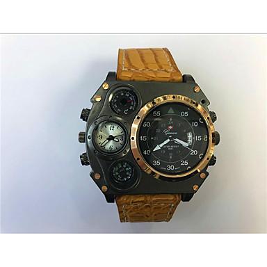 Χαμηλού Κόστους Ανδρικά ρολόγια-JUBAOLI Ανδρικά Αθλητικό Ρολόι Στρατιωτικό Ρολόι Ρολόι κυνηγιού Χαλαζίας Δέρμα Μαύρο / Χακί Ημερολόγιο Διπλές Ζώνες Ώρας Απίθανο Αναλογικό Μοναδικό Watch Creative - Σκούρο μπλε Κόκκινο Άσπρο / Μπεζ