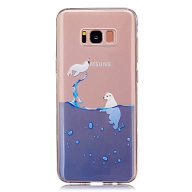 Maska Pentru Samsung Galaxy S8 Plus S8 IMD Transparent Model Carcasă Spate Animal Moale TPU pentru S8 S8 Plus S5 Mini S4 Mini