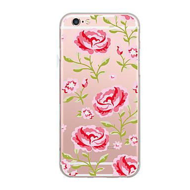 Pouzdro Uyumluluk iPhone 7 iPhone 7 Plus iPhone 6s Plus iPhone 6 Plus iPhone 6s iPhone 6 iPhone 5 Apple Ultra İnce Temalı Arka Kapak Çiçek