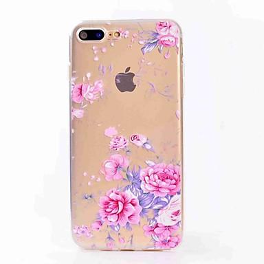 Pentru iphone 7 plus 7 caz acoperă translucid model spate acoperă caz floare moale tpu pentru iphone 6s plus 6 5s 5 se