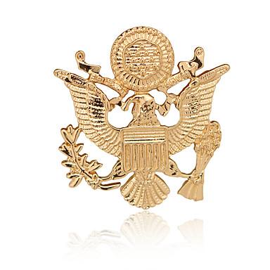 نساء صبيان اخرى دبابيس تصميم الحيوانات euramerican في مطلية بالذهب سبيكة حيوان أجنحة مجوهرات من أجل يوميا فضفاض
