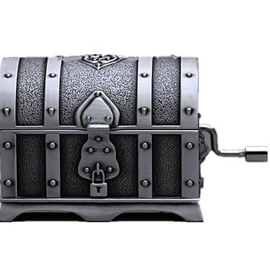 الصندوق الموسيقي ألعاب مربع معدن قراصنة قرصان قطع للجنسين عيد ميلاد هدية
