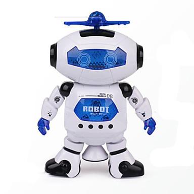 Uzay dansı müzik kızılötesi elektrikli robot oyuncak 360 derece ışıkları döndürün