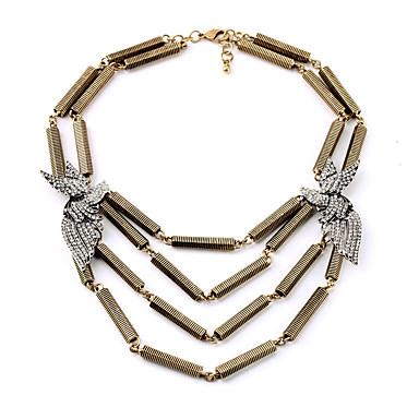 Kadın's katmanlı Kolyeler Geometric Shape Eşsiz Tasarım Kişiselleştirilmiş Altın Mücevher Için 1pc
