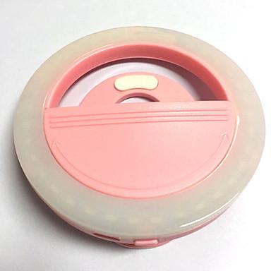 Mobiele telefoon licht leidde zelfontspanner lamp usb opladen schoonheid flash nacht licht ingebouwde lithium batterij roze