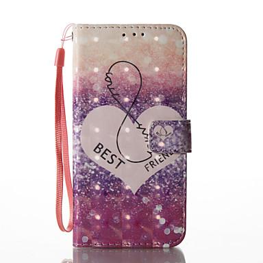 hoesje Voor Samsung Galaxy S8 Plus S8 Portemonnee Kaarthouder met standaard Flip Patroon Magnetisch Volledige behuizing Hart Hard PU-leer