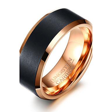 Bărbați Inel Personalizat De Bază Modă Euramerican stil minimalist Oțel Tungsten Rotund Circle Shape Geometric Shape Bijuterii Petrecere