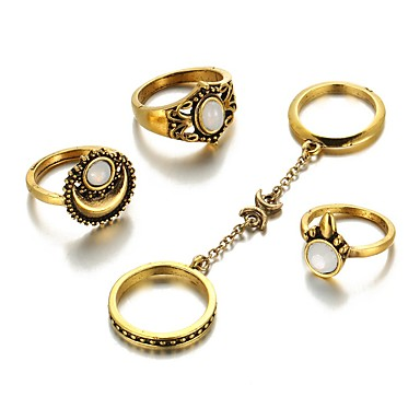 Δαχτυλίδια για τη Μέση του Δαχτύλου Κοσμήματα Μοναδικό Μοντέρνα Πεπαλαιωμένο Κράμα Χρυσό Ασημί Κοσμήματα Για Γάμου Πάρτι Καθημερινά Causal