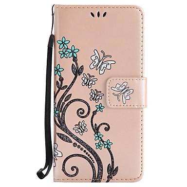 tok Για Sony Sony Xperia XA Sony Xperia X Θήκη καρτών Πορτοφόλι με βάση στήριξης Ανοιγόμενη Με σχέδια Πλήρης Θήκη Λουλούδι Σκληρή PU δέρμα
