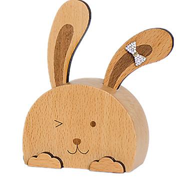Cutie muzicală Jucarii Rabbit Lemn Bucăți Unisex Cadou