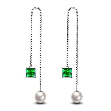 Herrn Damen Ohrstecker Künstliche Perle Modisch Hypoallergen Simple Style Klassisch Elegant Modeschmuck versilbert Linienform Schmuck Für