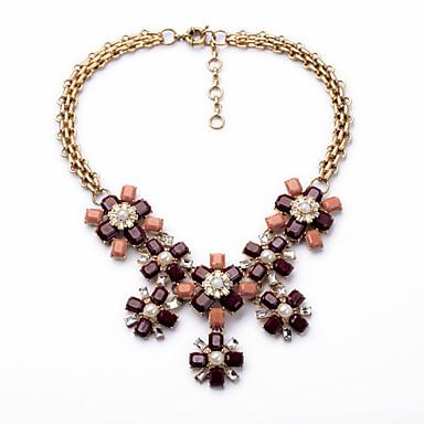 Damskie Pasemka Naszyjniki Flower Shape Słodkie Style Chrismas Dark Brown Biżuteria Na 1szt