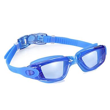 Goggles Πισίνα Κατά της ομίχλης Ρυθμιζόμενο μέγεθος Αδιάβροχη Silica Gel PC Μαύρο Μπλε Ανοικτό Γκρίζο Μπλε Απαλό