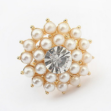 Dames Ring Bandring Imitatie Parel Gepersonaliseerde Bloemen Uniek ontwerp Logostijl Bloemenstijl Klassiek Vintage Bohémien Standaard