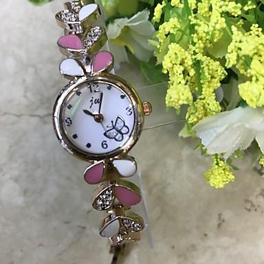Pentru femei Quartz Simulat Diamant Ceas Ceas de Mână Ceas Brățară Chineză / imitație de diamant Aliaj Bandă Casual Modă Roz auriu