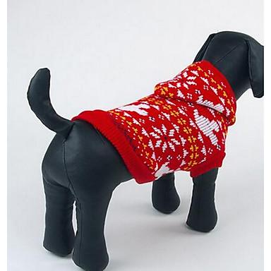 Σκύλος Πουλόβερ Ρούχα για σκύλους Καθημερινά Μοντέρνα Κινούμενα σχέδια Σκούρο μπλε Κόκκινο