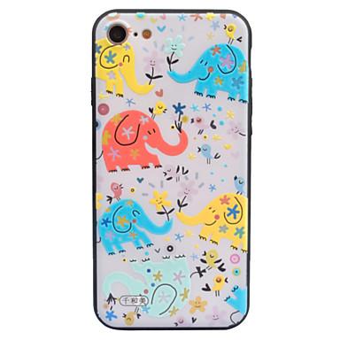Varten kotelot kuoret Koristeltu Kuvio Takakuori Etui Elefantti Piirros Kova Akryyli varten AppleiPhone 7 Plus iPhone 7 iPhone 6s Plus