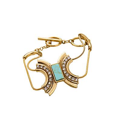 Kadın's Zincir & Halka Bileklikler Mücevher Arkadaşlık Moda alaşım Geometric Shape Açık Mavi Mücevher Için Parti Doğumgünü 1pc