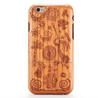 iPhone 6 6s kohokuvio tapauksessa takakansi tapauksessa puun syyt piirretty kova kiinteä puinen