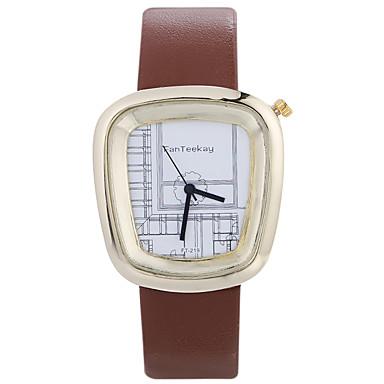 Ανδρικά Μοδάτο Ρολόι Ρολόι Καρπού Μοναδικό Creative ρολόι Καθημερινό Ρολόι Κινέζικα Χαλαζίας / ξύλινος Δέρμα Μπάντα Απίθανο Καθημερινά