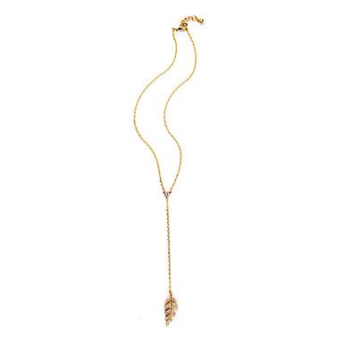 Naisten Riipus-kaulakorut Leaf Shape Personoitu ylellisyyttä koruja Kulta Korut Varten Häät 1kpl