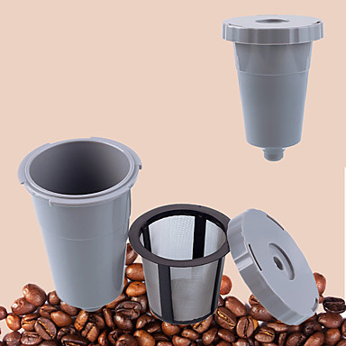 Plastikowy Metal Filtr do kawy Wielokrotnego użytku , 8.8*6.4*6.4