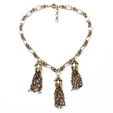 Kadın's Tellerinin Kolye Kristal Moda Eski Tip Kişiselleştirilmiş Euramerican Bronz Mücevher Için Düğün Parti 1pc